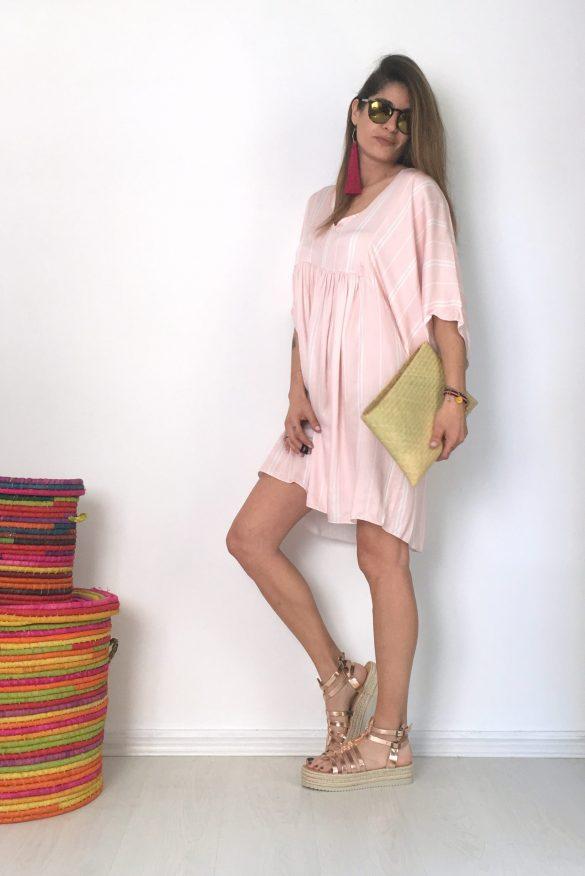 pink oversize dress