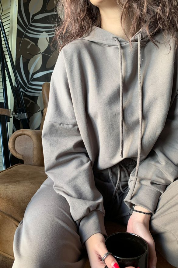 Comfy Blouse in Grey-Brown 3